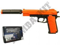 M24 BB Gun Colt Double Eagle Replica Airsoft Spring Pistol 2 Tone Orange Black